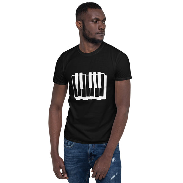 Piano Keyboard Music Short-Sleeve Unisex T-Shirt