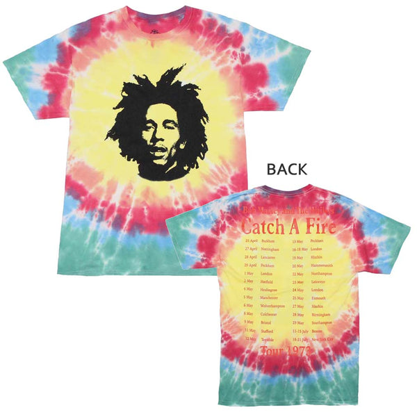 Bob Marley Catch A Fire Tie Dye T-Shirt