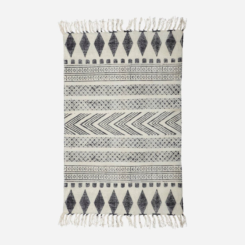 Rug, Block, Grey/Black 60 x 90 cm - Lempi Lifestyle