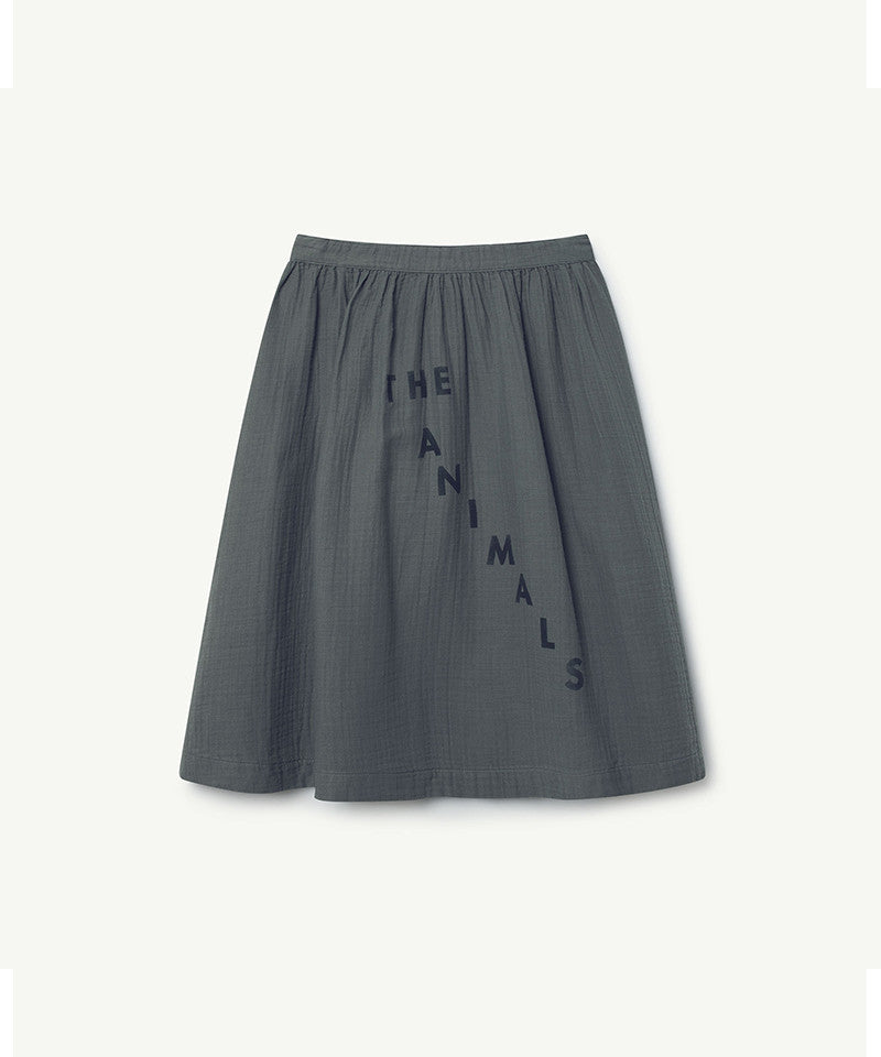Sow Kids Skirt, Grey Navy The Animals