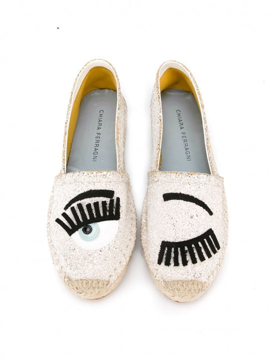'Flirting' espadrilles White Leather