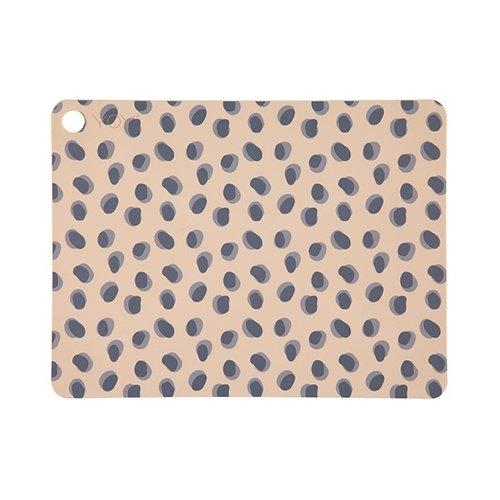 Set Of 2 Placemats in Leopard Dots