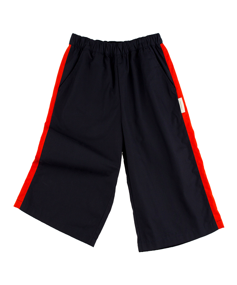 Solid wv Cool Pant, Navy/Carmine