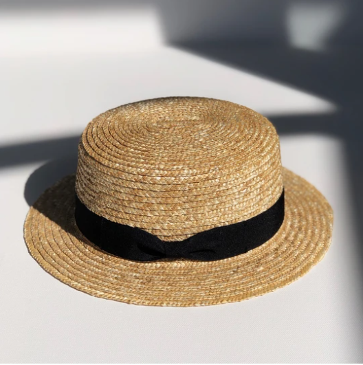 FINI STRAW BOATER ADULT