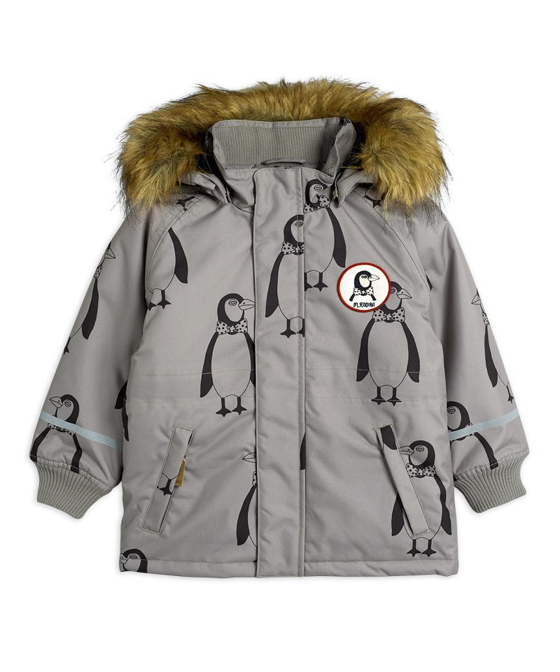 MINI RODINI K2 penguin parka, Grey