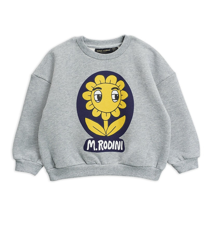 Flower sp sweatshirt, Grey Melange
