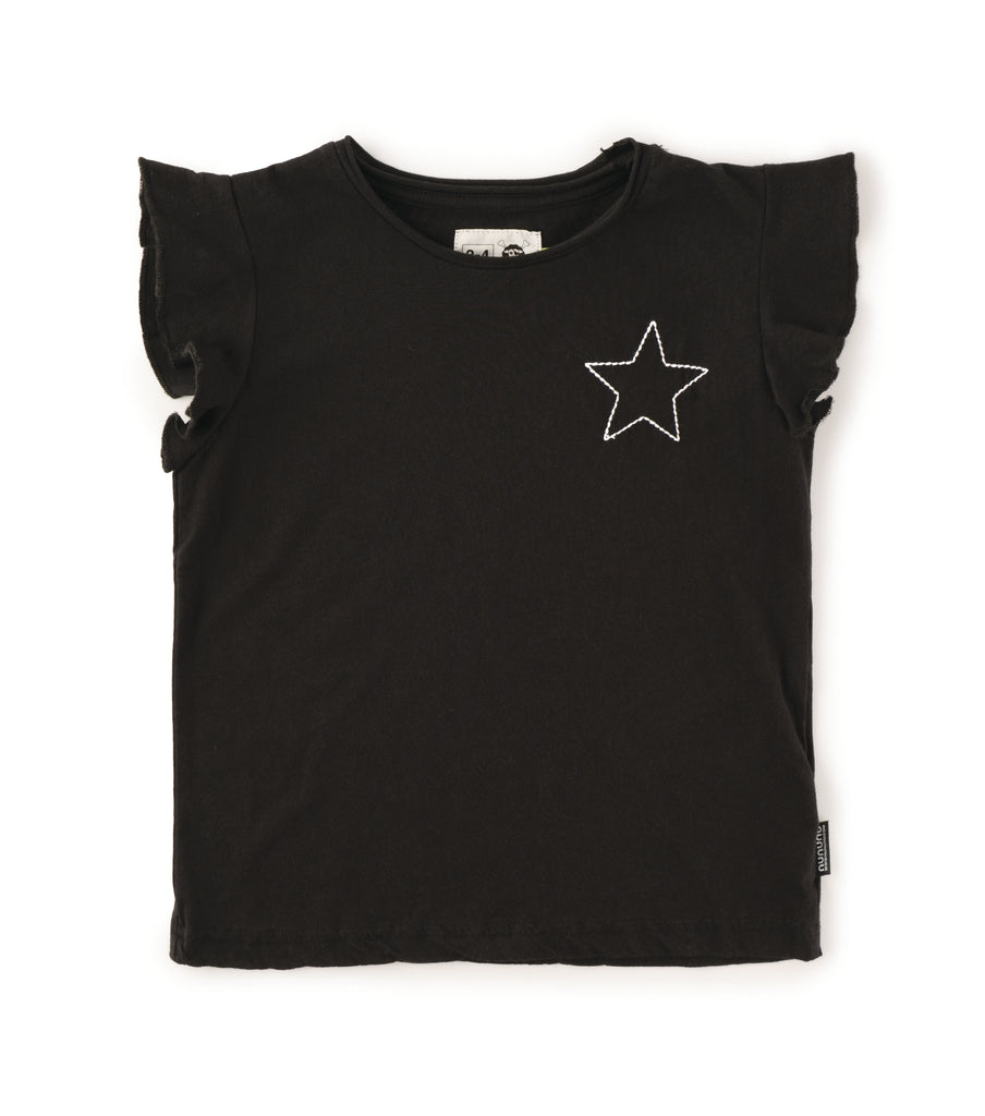 NU2511 Embroidred Star Ruffled Shirt