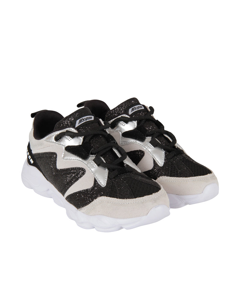 MSGM Colour-Block Sneakers, Nero