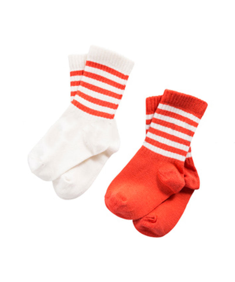 Mini Rodini 2-pack Socks, Red/White