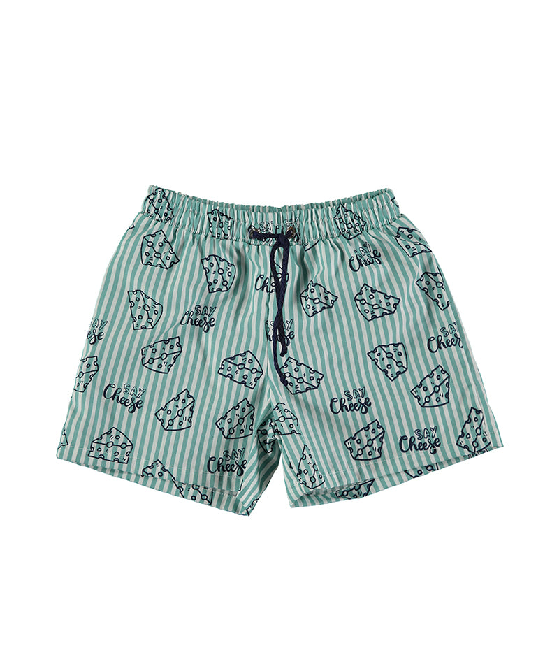 Boxer Allover Swimshorts, Sea Water