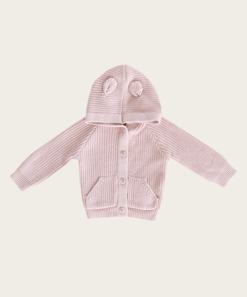Bear Cardigan, Old Rose