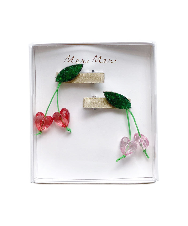 Meri Meri Cherry Bead Hair Clips