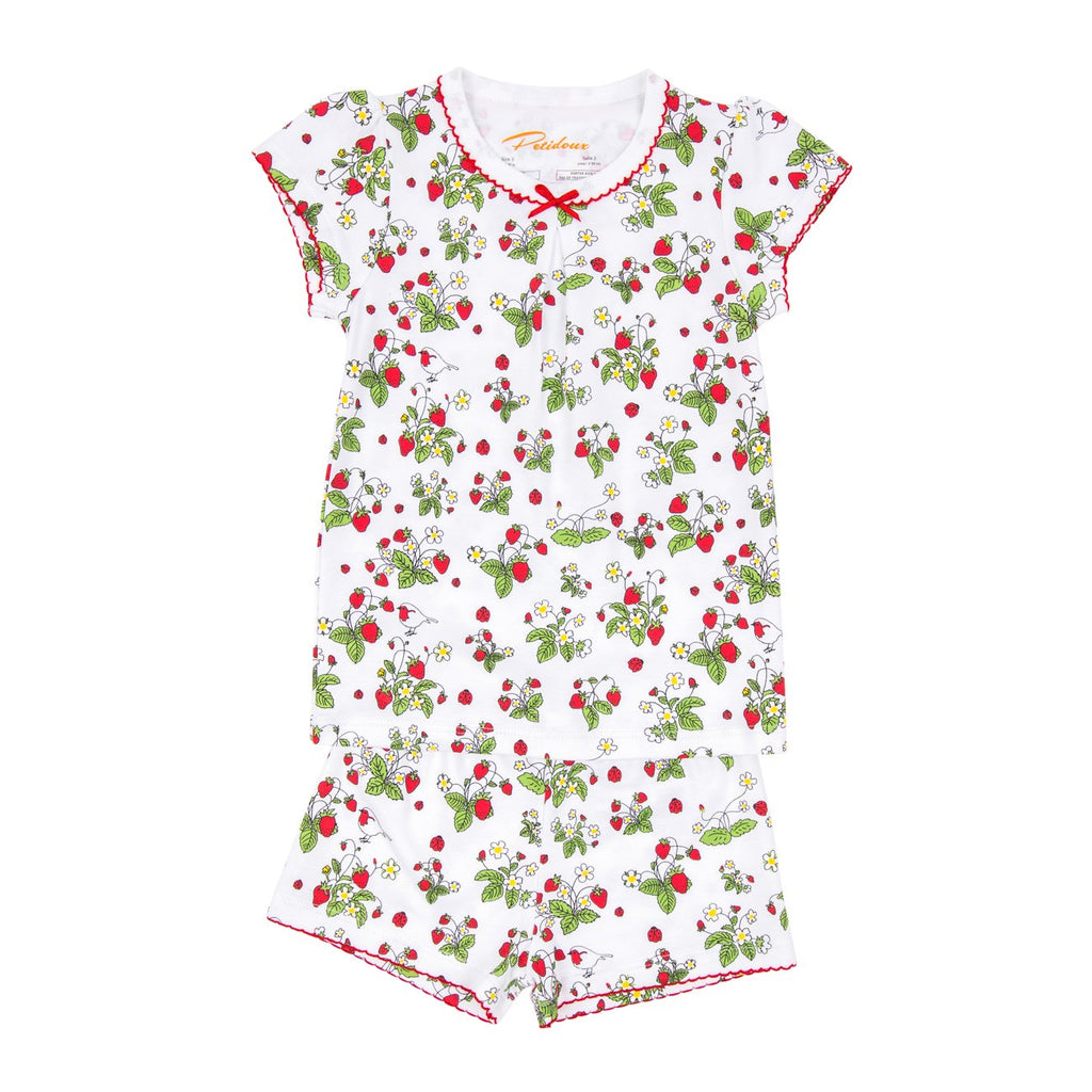Strawberries Jams Pajamas Short Sleeve