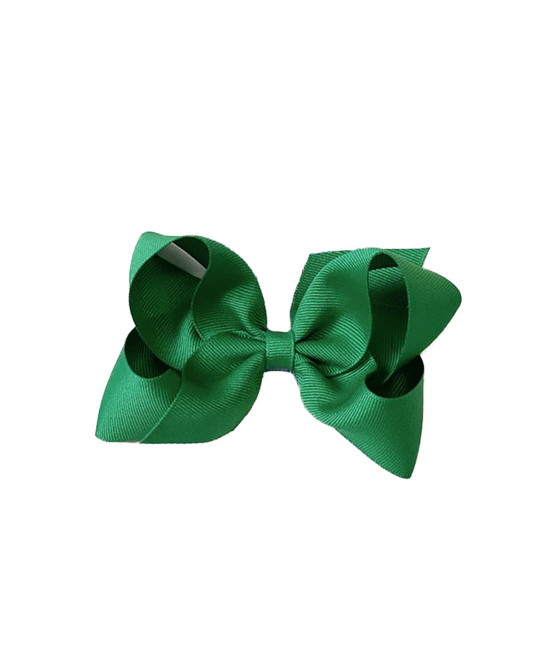 Classic Grosgrain Hair Bow, Green