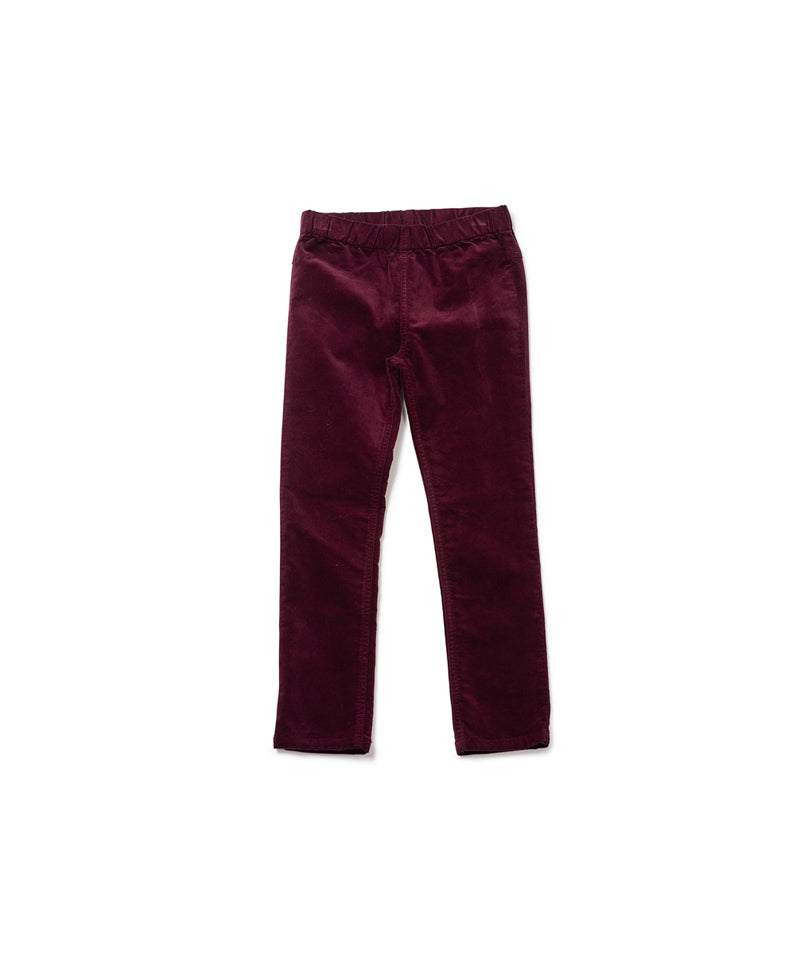 Bonton Bonbon Leggings Velours, Plum Pudding