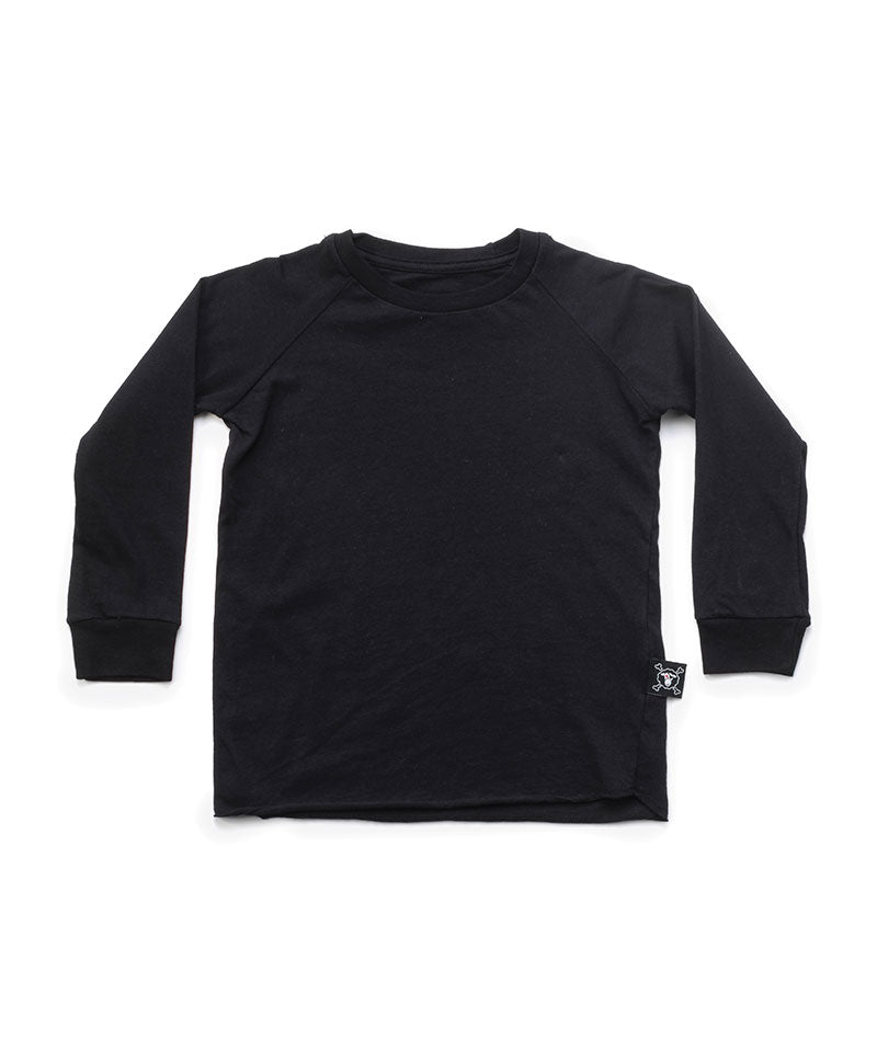 NU1727 Basic Raglan Shirt (2 Set), Black & Heather Grey