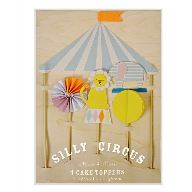 SILLY CIRCUS CAKE TOPPERS(45-1629)