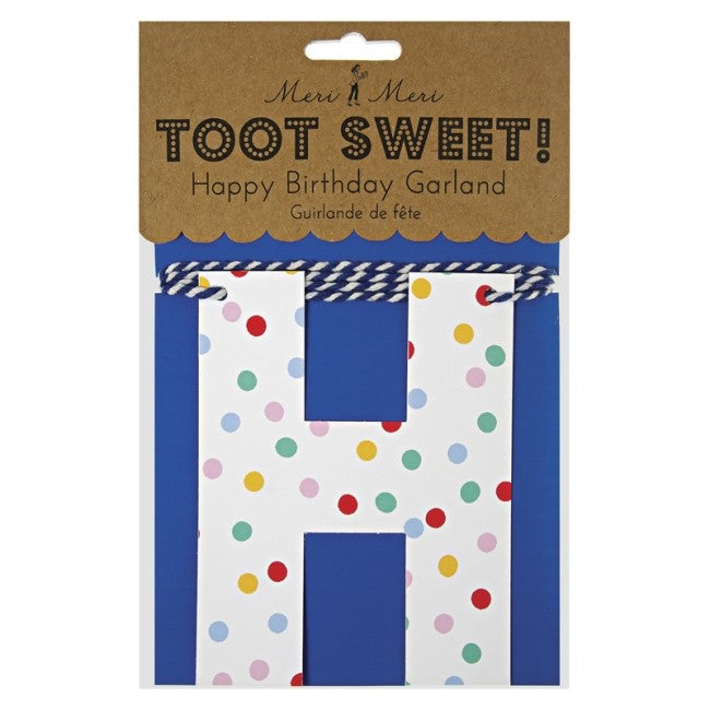 TOOT SWEET SPOTTY (HAPPY BIRTHDAY) GARLAND
