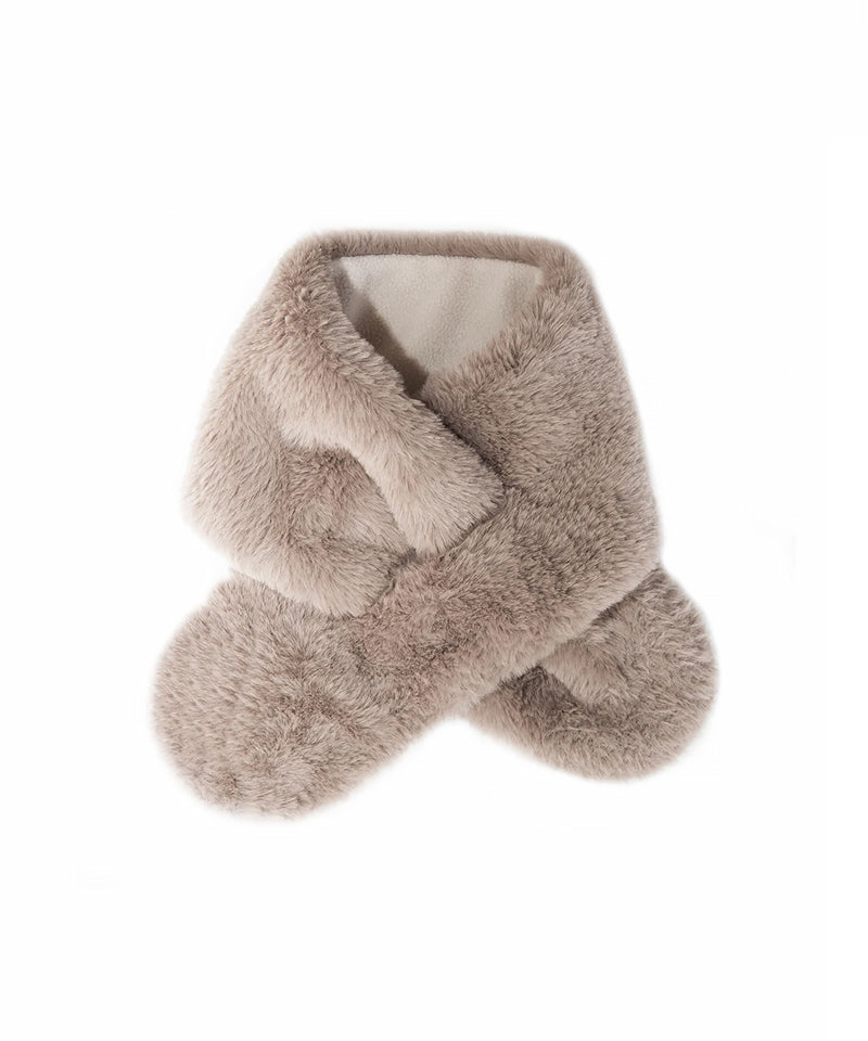 Teddy Fur Wrap, Brown