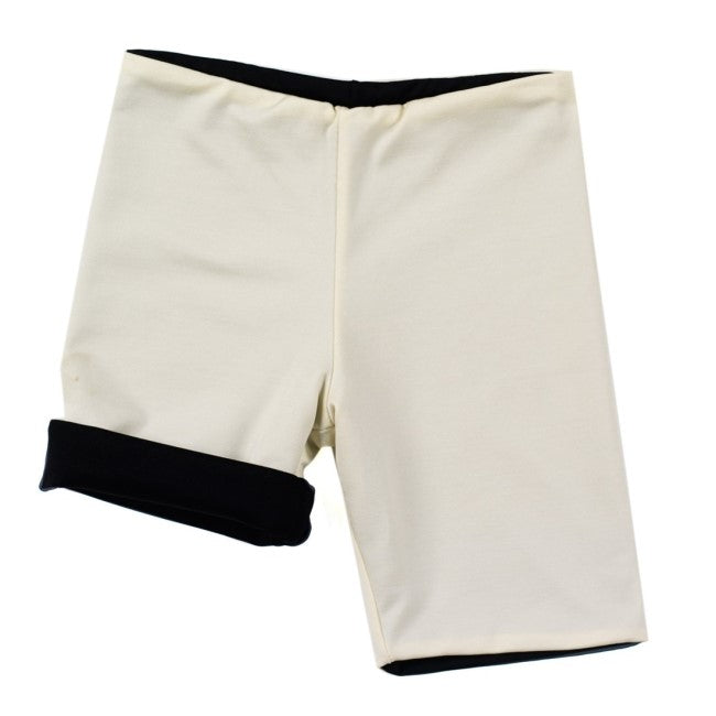 Asymmetric Bathing Short Boy (Ivory)