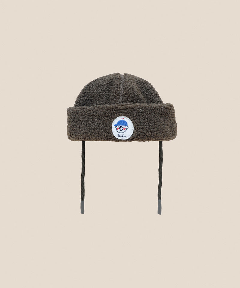 Bobo Choses Boy Patch Sheepskin Hat, Greener Pastures
