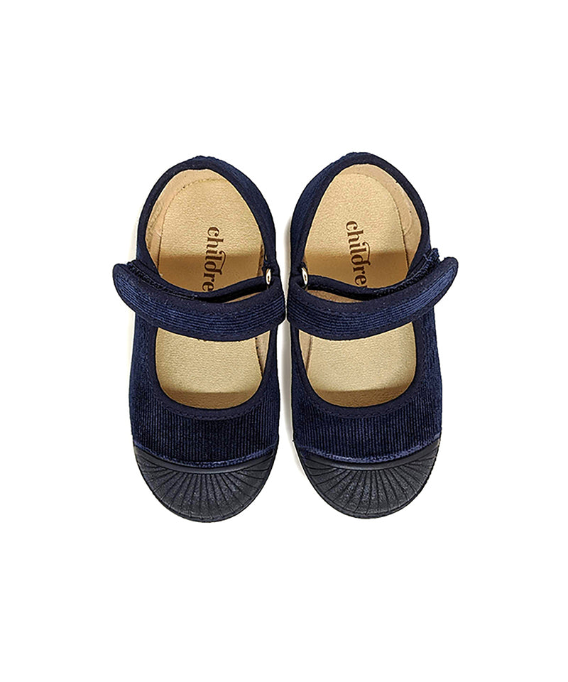 Childrenchic Kids Mary Jane Navy Captoe Sneakers