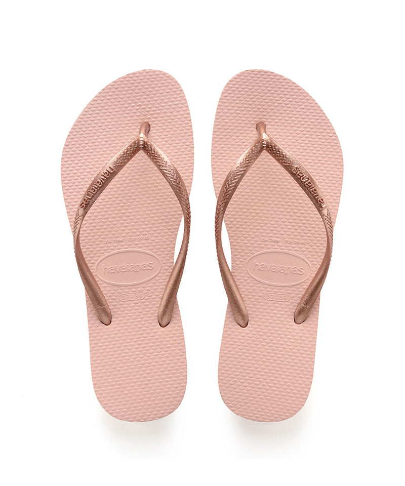 Woman's Slim Flip Flops, Ballet Rose