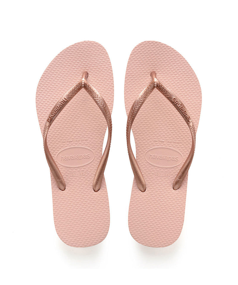 Kids Slim Flip Flops, Ballet Rose