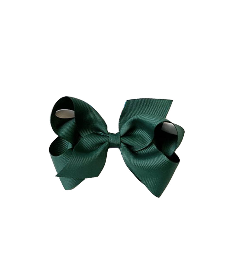 Classic Grosgrain Hair Bow, Forest Green