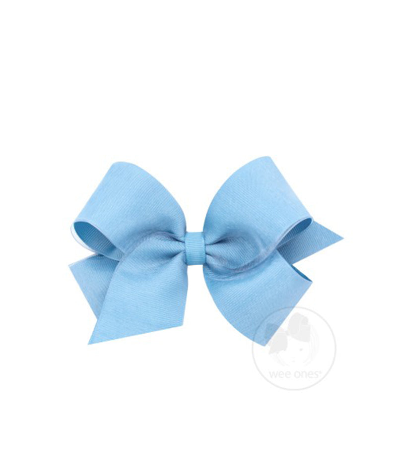King Organza Overlay Bow, French Blue