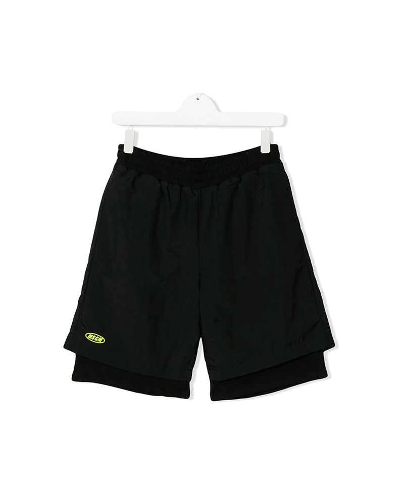 MSGM Black Layered Shorts