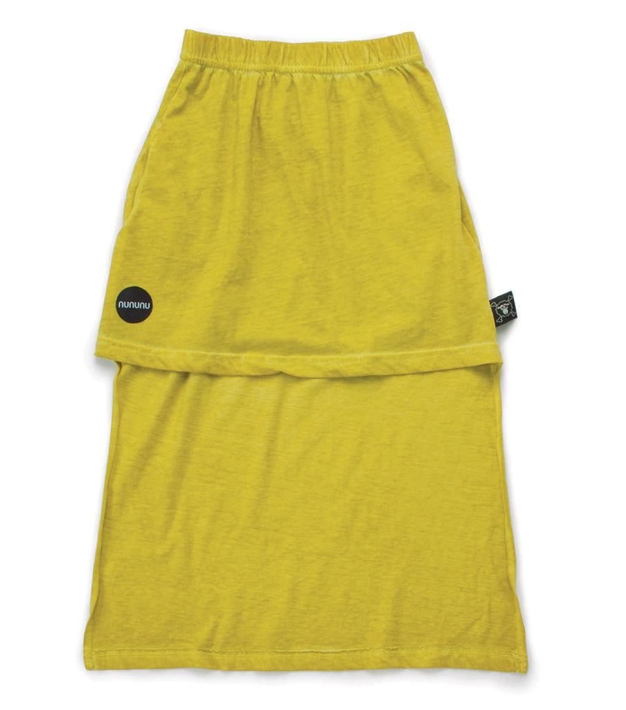 Dusty Yellow Mini Maxi Skirt for Girls