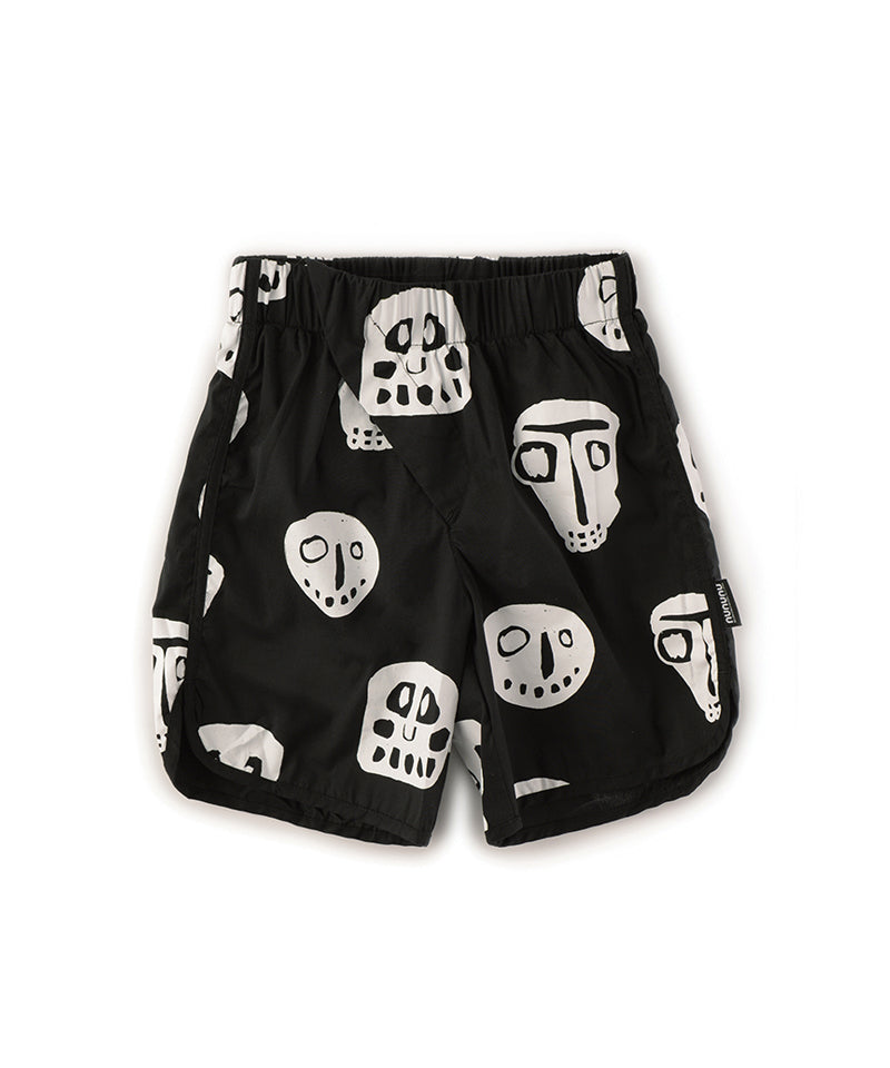 NU2652A Rowdy Masks Surf Shorts