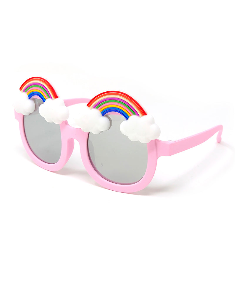 Kids Mirrored Rainbow Sunglasses, Pink