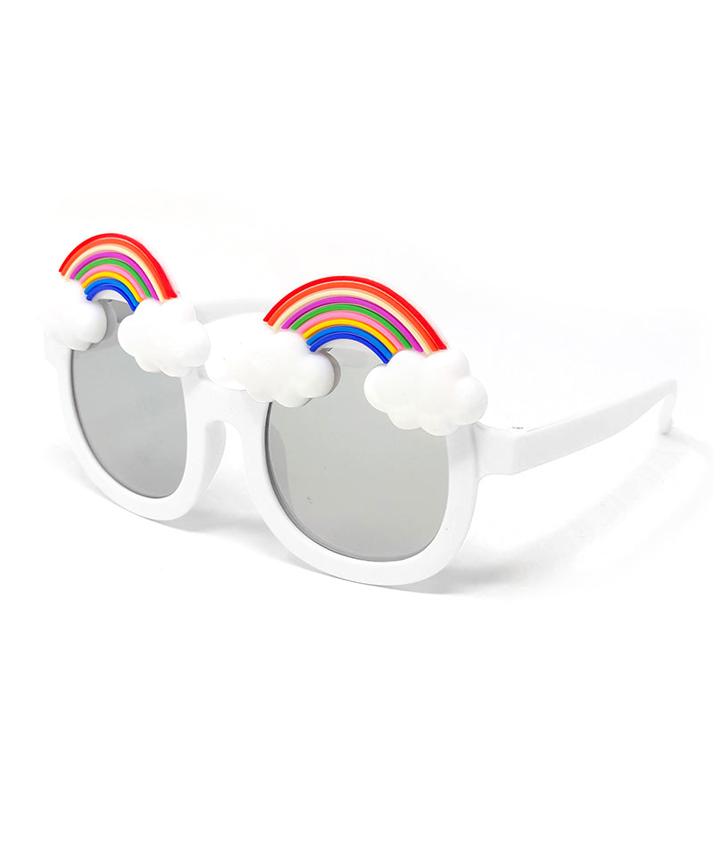 Kids Mirrored Rainbow Sunglasses, White