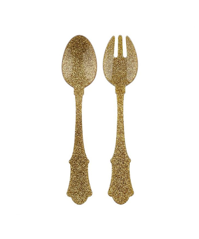 Honorine Salad Set, Glitter Gold
