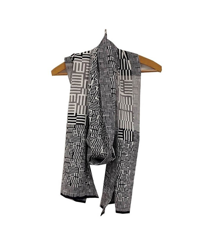 Sarah Elwick My Amazing Maze Scarf, Black/White/Grey