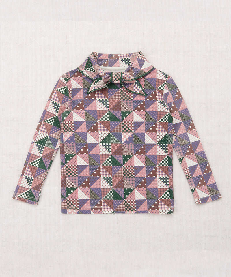 Misha & Puff Scout Top, Violet Patchwork Print