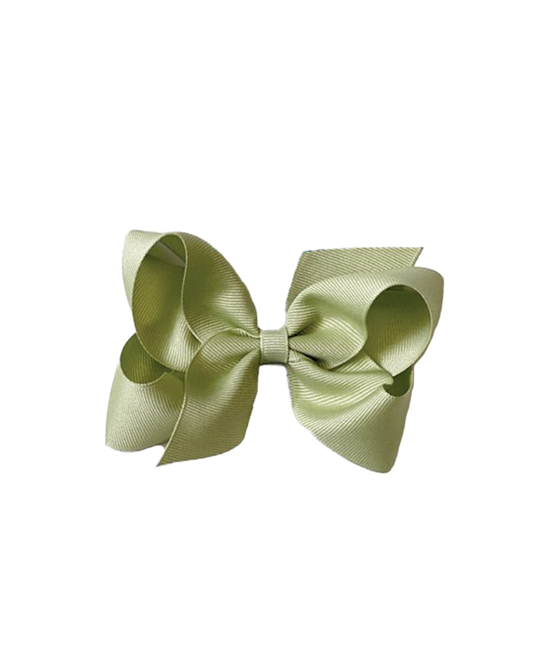 Classic Grosgrain Hair Bow, New Spring Moss