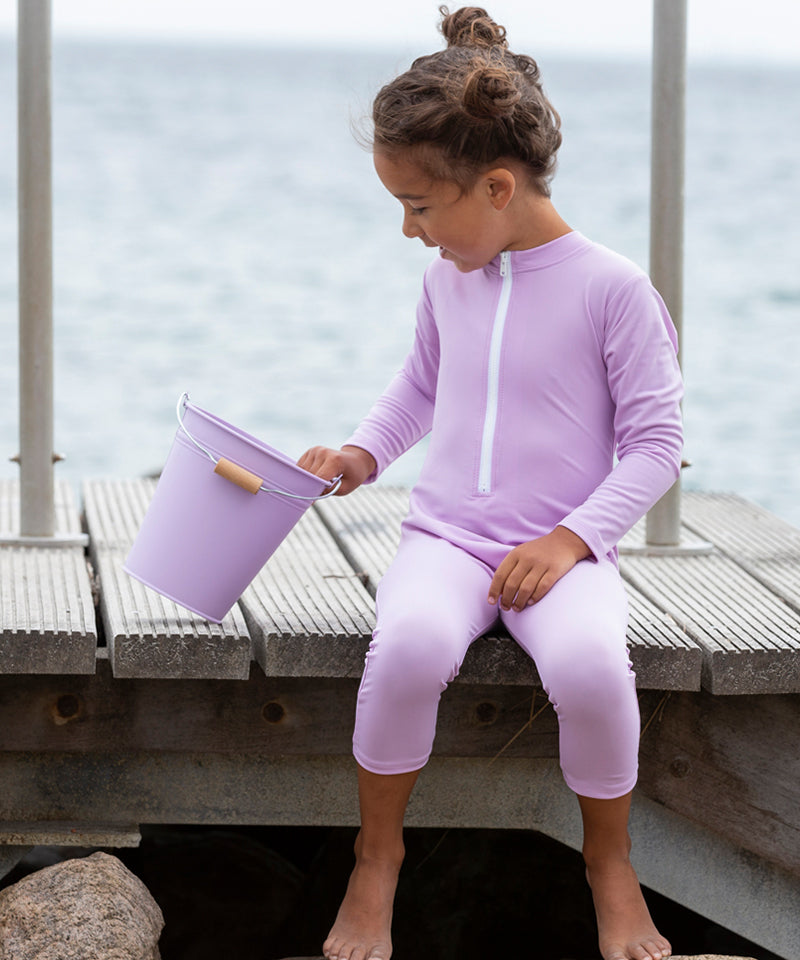Star Sunsuit L/S, Mauve