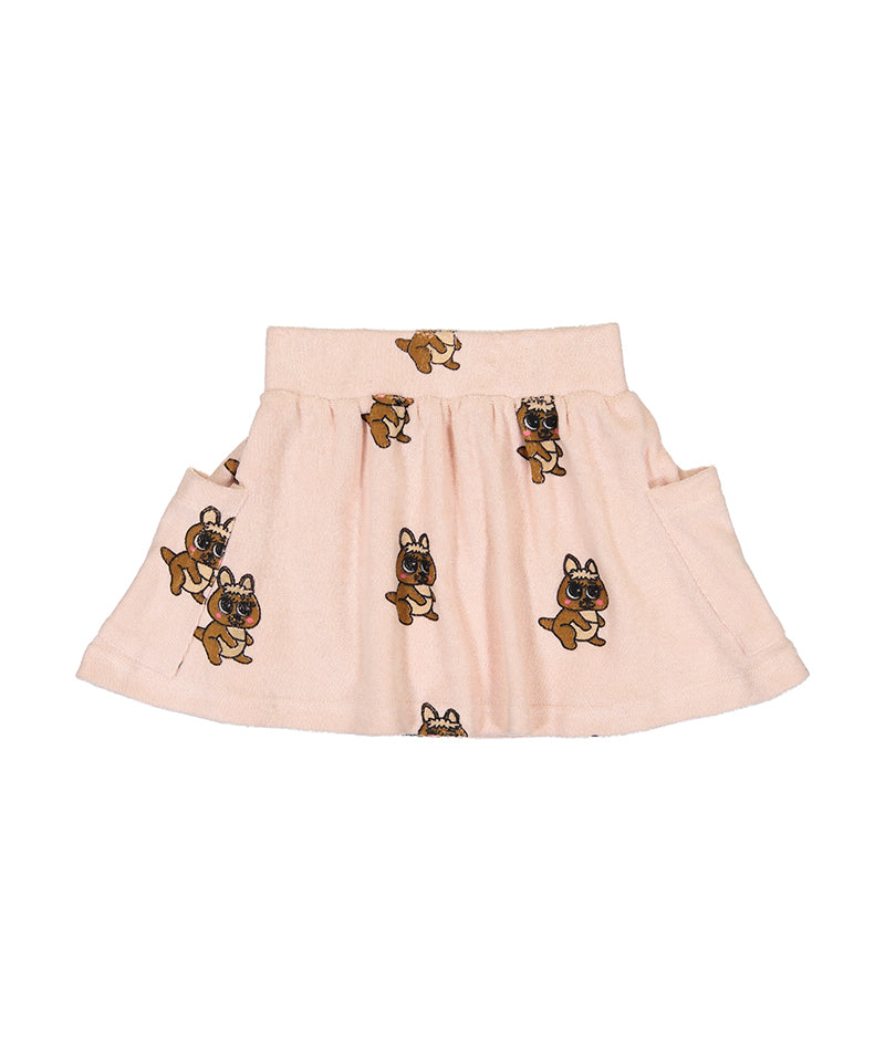 Terry Pocket Skirt, Brown Canguro