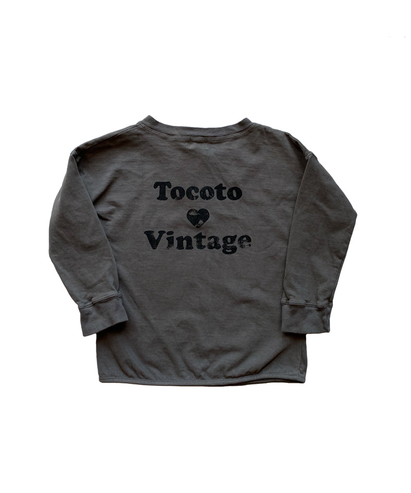"""Tocoto Loves Vintage"" T-shirt, Grey"