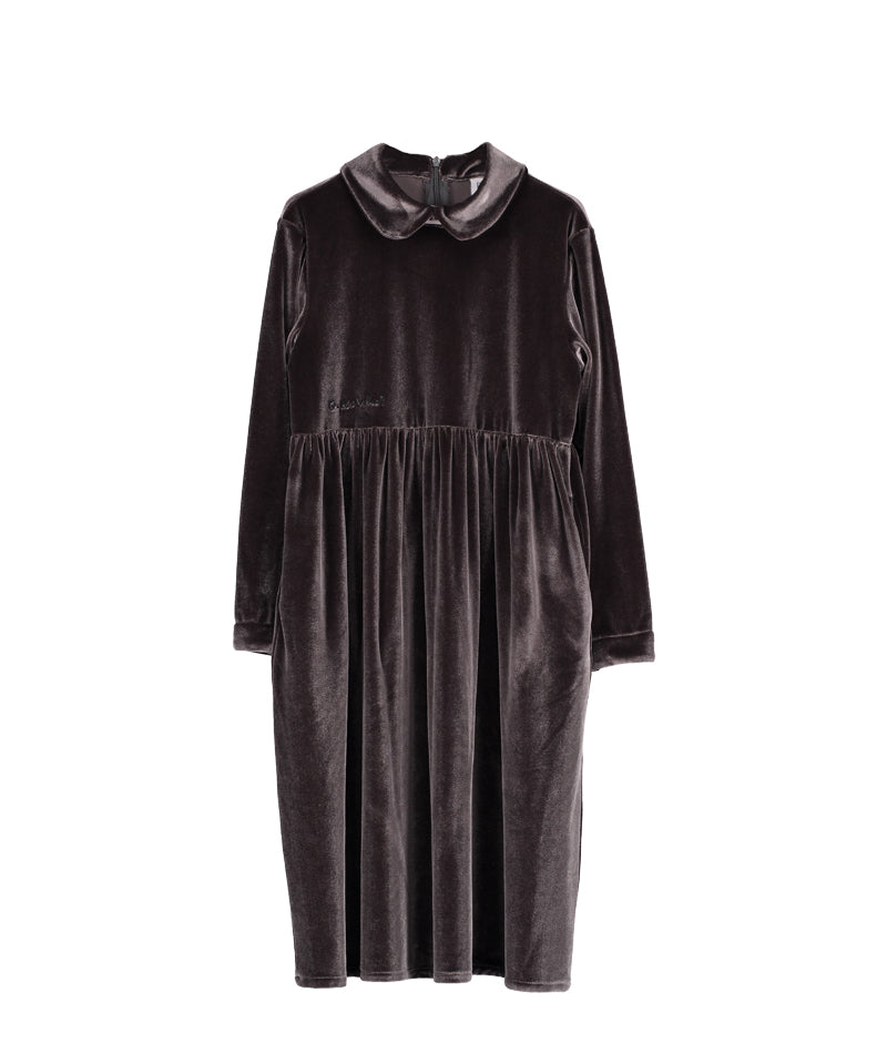 velvet margo collar dress