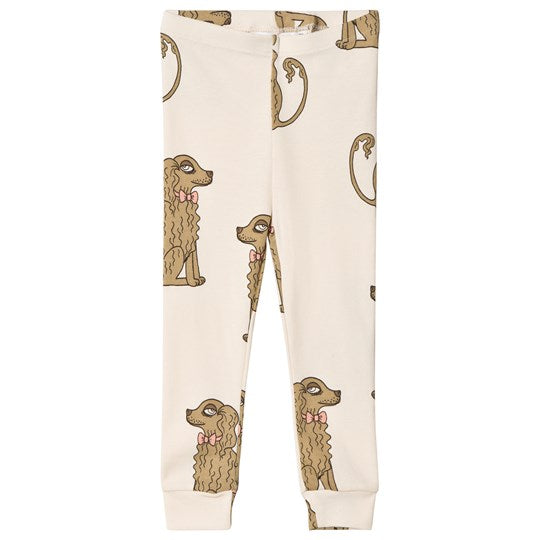 Spaniel Leggings, Off-White