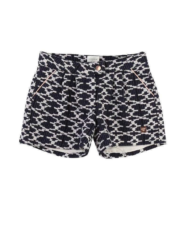 Girls Fancy Woven Shorts w/ Pattern