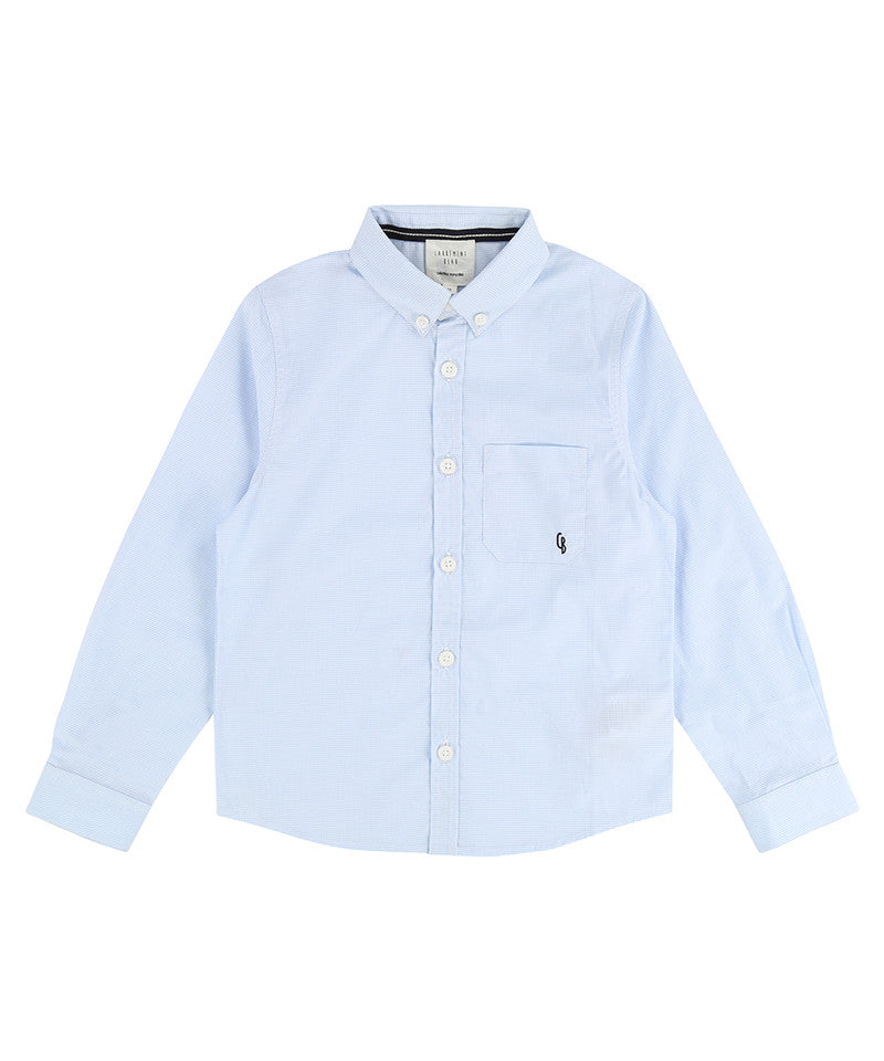 LS Button Down Poplin Shirt, White