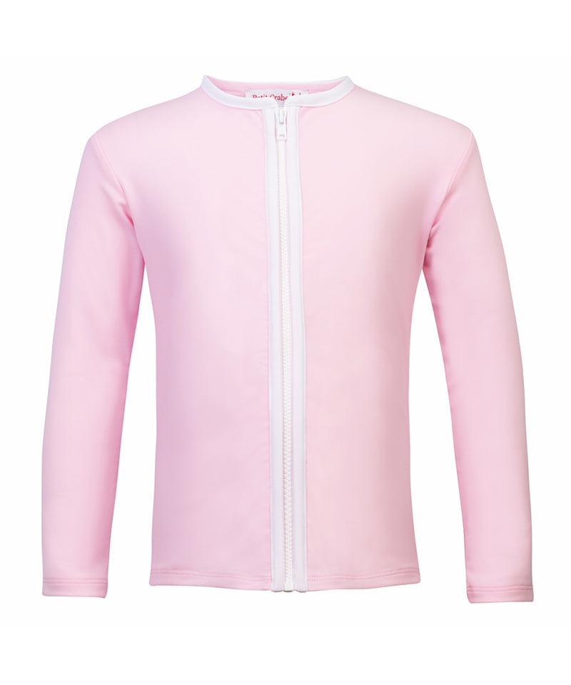 Zipper Swim Shirt L/S, Ballerina