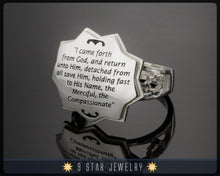 Load image into Gallery viewer, Re-Sizable Sterling Silver Baha'i Burial Ring- BBR1
