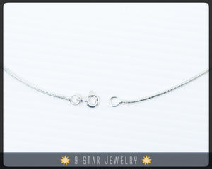"Sterling Silver 16"" Snake Chain Necklace"