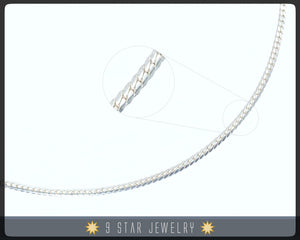 "Sterling Silver 16"" Scale Chain Necklace"